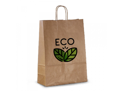 эко крафт пакет с логотипом