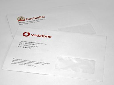 печать на конвертах с окном
